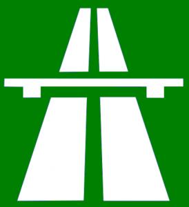 Autobahn Zeichen Iitalien